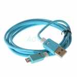 Cable USB To Micro USB (1.5M) 'THREEBOY' Blue